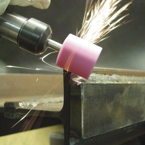 20 Stk | Schleifstift ZY Zylinderform für Stahl/Stahlguss 8x10 mm Schaft 6 mm | Edelkorund Korn 60 Schaltbild