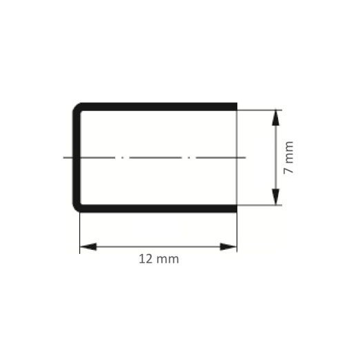 100 Stk | Schleifkappe SKZYS Zylinderform universal 7x12 mm Spezialkorund Korn 80 Maßzeichnung