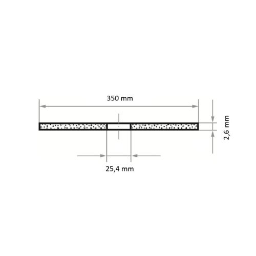 1 Stk | Trennscheibe T41 für Edelstahl 350x2.6 mm gerade | für Trennvorrichtung | A36S-BF Abb. Ähnlich