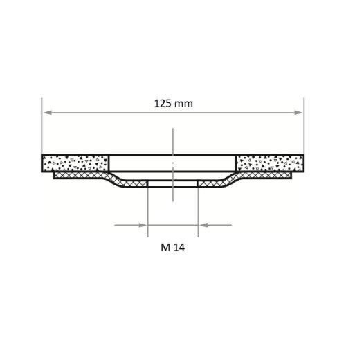 10 Stk | Fächerschleifscheibe SLTK universal Ø 125 mm mit M14-Gew. Zirkonkorund Korn 40 |gerade Abb. Ähnlich