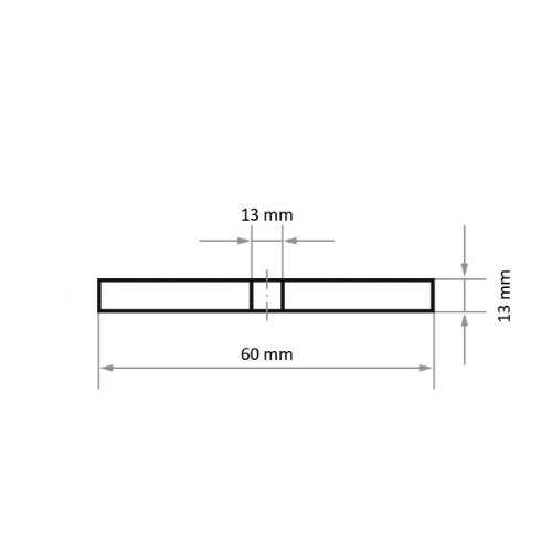 10 Stk | Reinigungsvlies ASVS universal 60x13 mm Bohrung 13mm Maßzeichnung