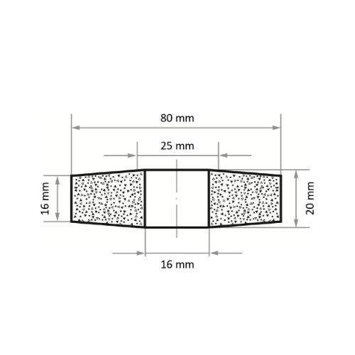 10 Stk | Schleifscheibe SE4 Scheibe für Guss 80x20 mm Bohrung 16 mm Korn 16 Abb. Ähnlich