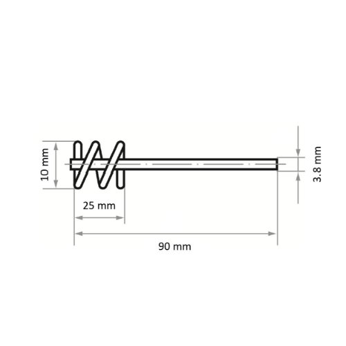 10 Stk | Rohrbürste RBSD universal 10x25 mm für Bohrmaschinen gewellt Abb. Ähnlich