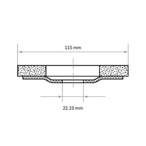 10 Stk | Fächerschleifscheibe SLTV universal Ø 115 mm Zirkonkorund Korn 280 | flach Abb. Ähnlich