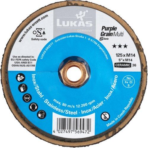 1 Stk | Kompaktschleifteller PURPLE GRAIN Multi universal Ø 125 mm Ceramic Korn 36 Artikelhauptbild