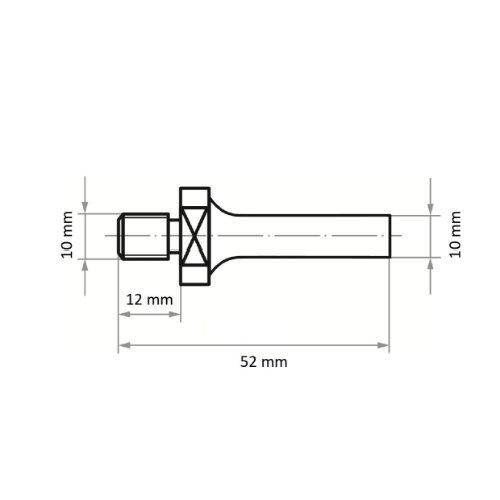 5 Stk | Werkzeugaufnahme ASB für Werkzeuge mit Innengew. M10 Schaft 10 mm Abb. Ähnlich