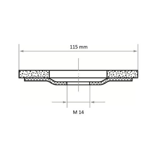 10 Stk | Fächerschleifscheibe SLTK universal Ø 115 mm mit M14-Gew. Zirkonkorund Korn 60 |gerade Abb. Ähnlich