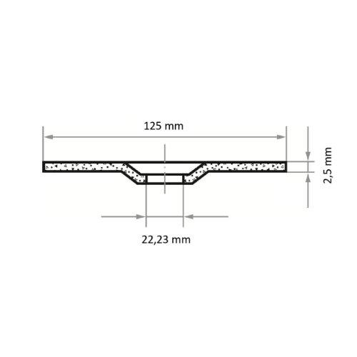 25 Stk | Trennscheibe T42 für Stahl 125x2.5 mm gekröpft | für Winkelschleifer | A24R-BF Abb. Ähnlich