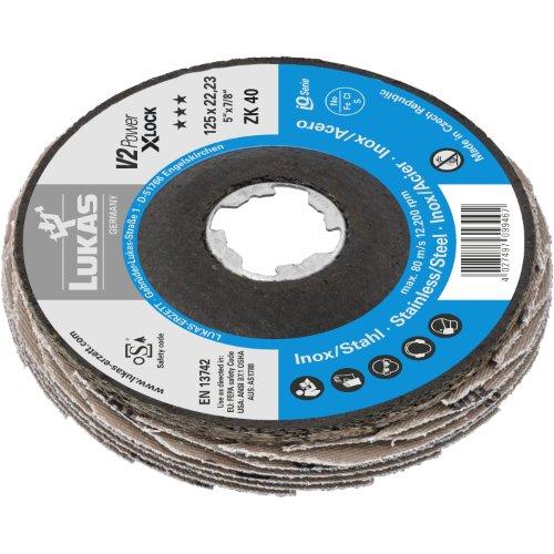 10 Stk | Fächerschleifscheibe V2 POWER Ø 125 mm Zirkonkorund Korn 60 | für X-Lock Winkelschleifer | flach Produktbild