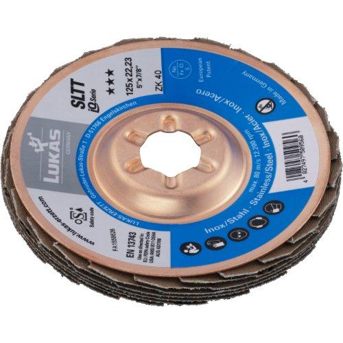 10 Stk | Fächerschleifscheibe SLTT universal Ø 178 mm Zirkonkorund Korn 40 | flach Produktbild