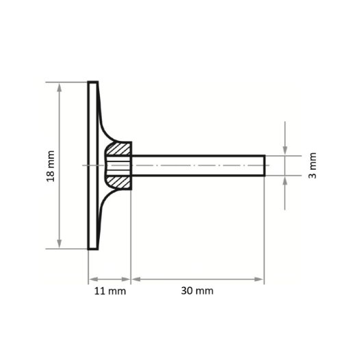 5 Stk | Werkzeugaufnahme GTK für Schleifblätter Ø 18 mm Schaft 3 mm Abb. Ähnlich