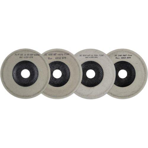 1 Stk   Polierteller-Set P6PT Ø 125 mm 4-teilig für Winkelschleifer schräg Produktbild
