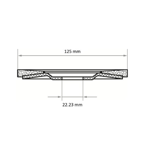 1 Stk | Fächerschleifscheibe V2 Power universal Ø 125 mm Siliciumcarbid Korn 40 | flach Abb. Ähnlich