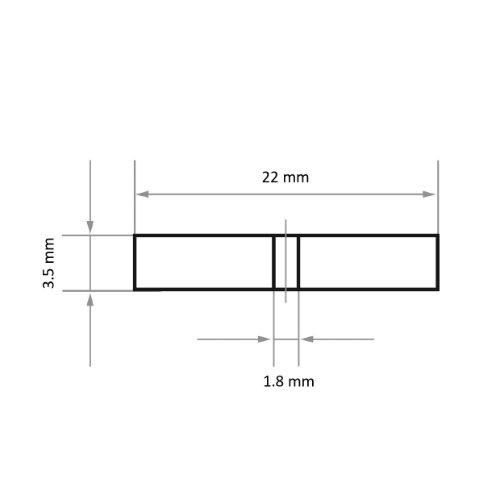100 Stk   Polierrad P7- R22 22x3,5 mm Siliciumcarbid Korn 240 Abb. Ähnlich