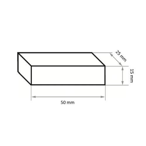 5 Stk | Abziehstein RU 1 | 50x25x15 mm Siliciumcarbid Korn 60 Abb. Ähnlich