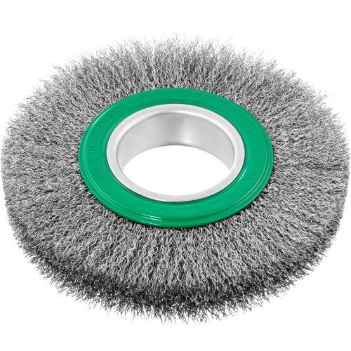 1 Stk | Rund-Drahtbürste BRVW für Edelstahl 150x23 mm für Geradschleifer gewellt Produktbild