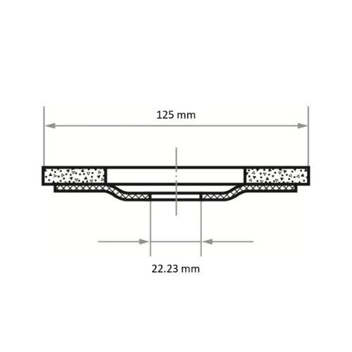 5 Stk | Polierteller P6PT Ø 125 mm Ultra fein | Korn 1200 | für Winkelschleifer schräg Siliciumcarbid Abb. Ähnlich