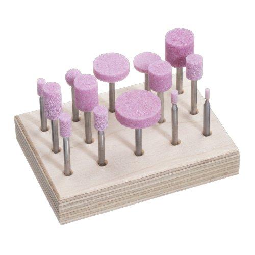 1 Stk   Schleifstift-Set für Stahl/Stahlguss 14-teilig Schaft 3 mm Edelkorund Produktbild