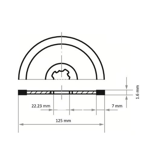 10 Stk | Diamanttrennscheibe FLIESE S7 für Stein/Fliesen Ø 125 mm für X-LOCK Winkelschleifer Abb. Ähnlich