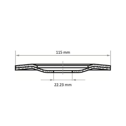 25 Stk | halbflex. Schruppscheibe SHF Ø 115 mm Siliciumcarbid Korn 36 | für Winkelschleifer Abb. Ähnlich