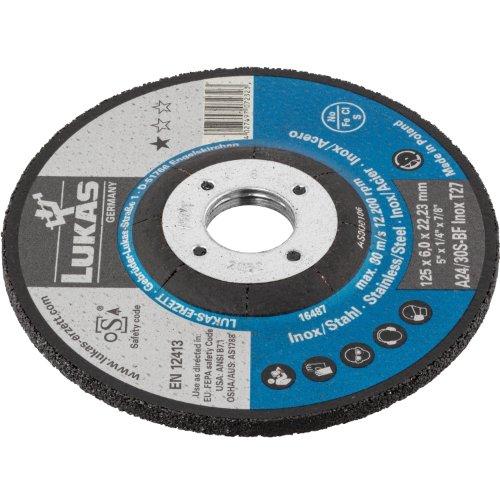 1 Stk | Schruppscheibe T27 für Edelstahl 125x6 mm gekröpft | für Winkelschleifer | A24/30S-BF Produktbild