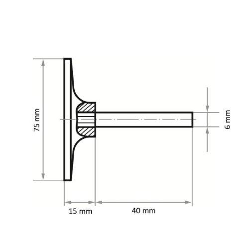 2 Stk | Werkzeugaufnahme GTH für Schleifblätter Ø 75 mm Schaft 6 mm Abb. Ähnlich