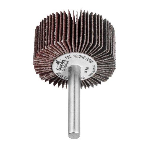 10 Stk | Fächerschleifer SFL universal 60x30 mm Schaft 6 mm Korund Korn 40 Produktbild