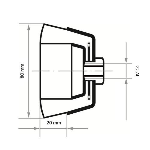 1 Stk | Topfbürste BTSZ universal 80x20 mm für Winkelschleifer gezopft Abb. Ähnlich