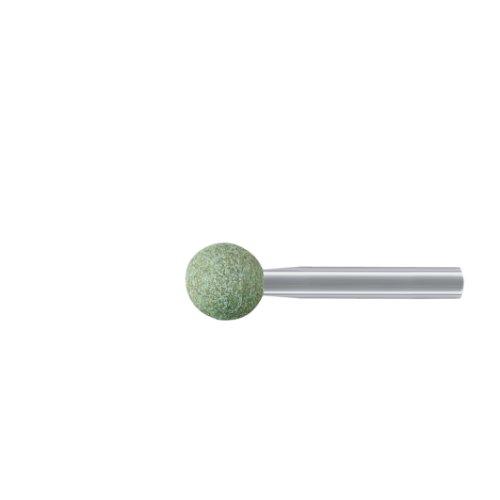 20 Stk | Schleifstift KU Kugelform für Edelstahl 6x6 mm Schaft 3 mm | Korn 80 Artikelhauptbild